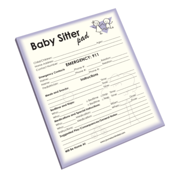 Baby Sitter Notepad