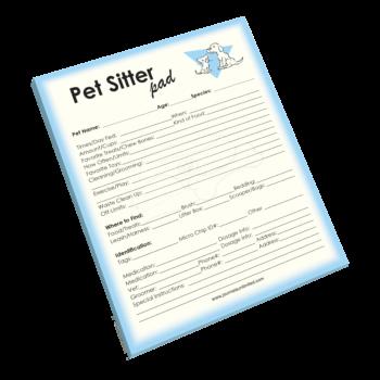 Pet Sitter Notepad