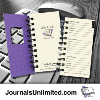 Online Accounts My Password Journal mid-19
