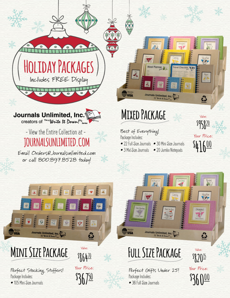 wholesale journal pre-pack
