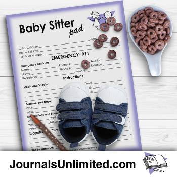 Jumbo Notepad - Baby Sitter