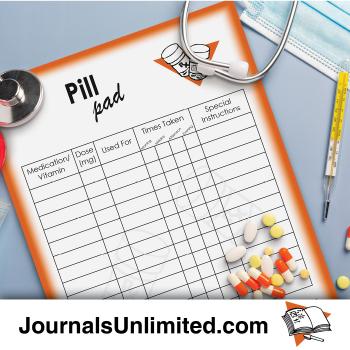 Jumbo Notepad - Pill and Vitamin Reminder