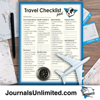Jumbo Notepad - Travel Checklist