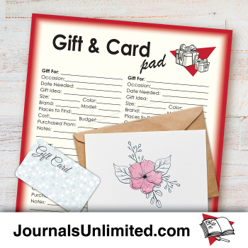 Jumbo Notepad - Gift and Card Reminder