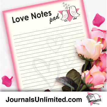 Jumbo Notepad - Love Notes